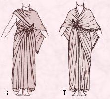 Egyptian Costume Draped Shawl Style Garment