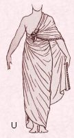 Egyptian draped shawl costume 1600 B.C. Free pattern