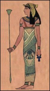 Goddess Egyptian costume for fancy dress or pageantry re-enactment