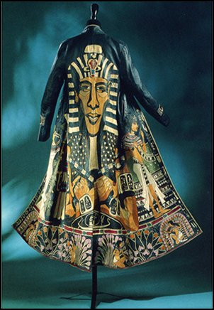 Egyption Akhnaton Coat 1976 by John Jones. Wearable Art from Stitched and Pieced Leather.