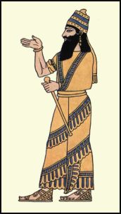 Costume History - Assyrian clothing of King Assur-nasir-pal