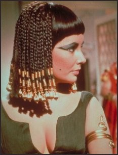Elizabeth Taylor as Cleopatra in the 1963 film