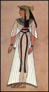 Egyptian Queen Wearing Shawl Cape
