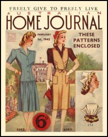 Mid Late 1940s Dressmaking The Australian Ladies Home Journal 1945