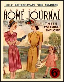 Mid Late 1940s Dressmaking The Australian Ladies Home Journal 1946