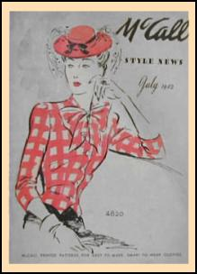 1940-1945 Picture of McCall Magazine Pattern Cover 1942