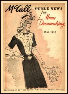 1940-1945 Picture of McCall Magazine Pattern Cover 1943
