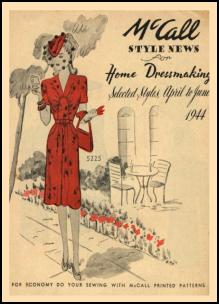 1940-1945 Picture of McCall Magazine Pattern Cover 1944