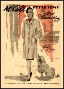 1940-1945 Picture of McCall Magazine Pattern Cover 1940