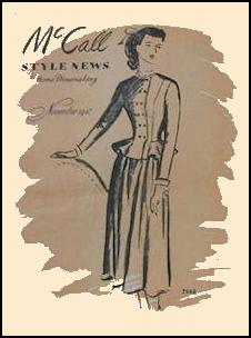 1945-1950 McCall Magazine Dressmaking Pattern Design Covers 1947