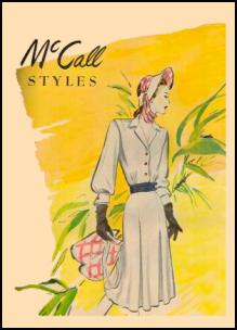 1945-1950 McCall and Butterick Magazine Dressmaking Pattern Design Covers 1947