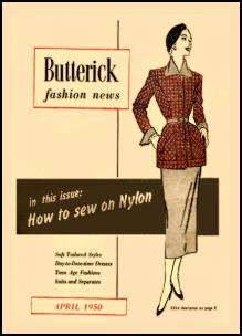 1945-1950 Butterick Magazine Dressmaking Pattern Design Covers 1950