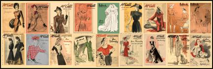 Early 1940-1945 McCall and Butterick Magazine Pattern Covers