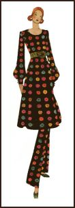 Dress over trousers 1971