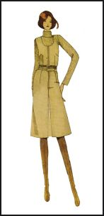 1970s Pinafore Pattern Dress
