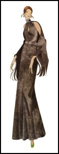 1971 Halter neck maxi dress pattern design
