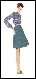 1970s Flared Skirts & Bloused Sleeves - 1971
