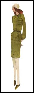 1970s Shirtwaist Dress 1971 Pattern