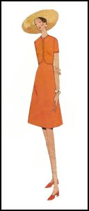1970s Shift Dress With Focus Seams - 1971