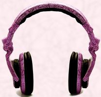 Ultra glam headphones CRYSTALLIZED� with Swarovski elements.