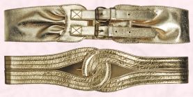 Gold double buckle belt, �12/�20, Gold loop belt, �12/�20, both Dorothy Perkins.