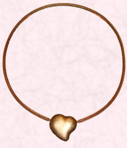 Convertible Jewellery - Marcel Roelofs rutilated quartz and gold necklace.Convertible jewellery with gold heart. Makers of interchangeable pieces are the original Jorg Heinz and Marcel Roelofs.