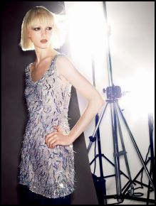 Monsoon Fusion Christmas Collections 2007 - Silver Gatsby Dress, �75/�115 - In Store November.