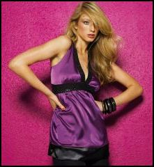 New look  purple and sequin V neck clubbing disco top.