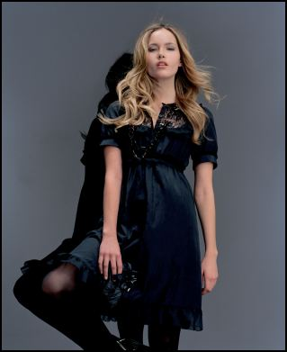 Black Lace Yoke Dress �38/�62 from the Gothic Angels range at Miss Selfridge.
