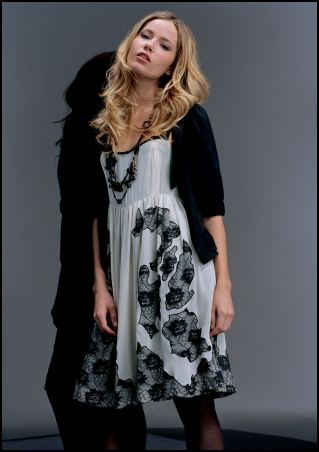 Lace appliqu� dress �95/�150, Jacket �45/�70 from the Miss Selfridge AW07 range called Cream and Black.