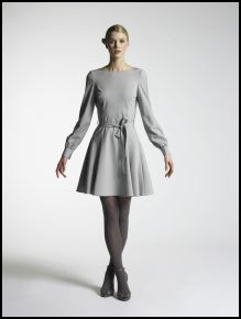 New Look Autumn/Winter 07/08 Collection - Womenswear Visionary, Grey dress �30/43.50�, Black tights �3/4�, Black shoes �25/36�.