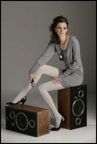 Internacionale - Silver tights �5, Scoop dress �16. Internacionale Autumn/Winter 2007.