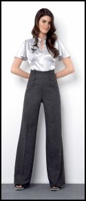 River Island Clothing Co. Ltd - A/W 2007 Womenswear, Satin Blouse �29.99/�50.50, High Waisted Trousers �39.99/�67.00