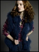 Blue Fur Gilet - 2008 Fashion History.