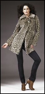 2008 Fashion History - Animal Fashion Trends -  Faux Fur Coat Autumn 2008 - Womenswear BHS.