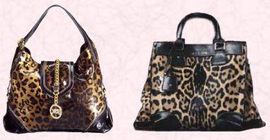 For Autumn 2008 - Leopard print Handbags.  Left - Star by Julien Macdonald - Bag �50/�78 from the Autumn/Winter 2008 Accessories Range at Debenham. Right - Celine 'Les Cuirs Sulky' Leopard Orlov bag �1450.