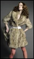 New Look - Faux Fur Coat �75/�115, Belt �12/�18, Clutch �10/�15, Bracelet �8/�12, Tights �8/�12 from the New Look Autumn/Winter 2008 Collection.