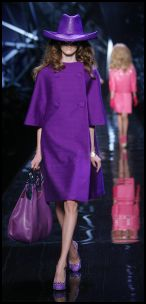 Dior Purple coat, accessories and bag.