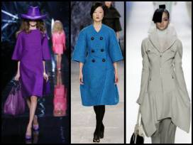 Autumn 2008 Winter 2009 Fashion-era fashion trends - designer coat fashions by  Dior, Aquascutum and Vuitton.