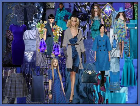 Inky Blues Fashion Mood Board