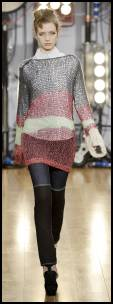 Autumn 2008 knitwear fashion trends on fashion-era. The airy feather weight designer knit tunic is by Sinha Stanic