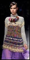 Patterned colourful knit tunic -  Catwalk knitwear.