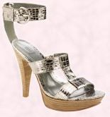 Shoe 17 - Silver T-bar, Eclair, ankle strap platform sandal from Barratts.