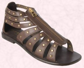 This brown stud Gladiator sandal is from the Spring 2008 Office Ladies Footwear Collection and is called Levictus Zip Sandal