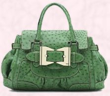 'It handbag' Green ostrich bag �5710.