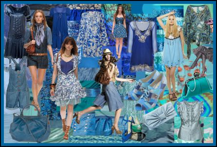 Spring Summer 2008 Pure Blues Fashion Colour Moodboard