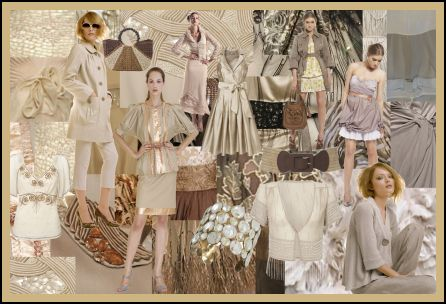 Spring Summer 2008 Neutrals, Ecru and Creams Fashion Colour Moodboard Trends