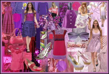 Spring Summer 2008 Magenta Purple Mauve Fashion Colour Moodboard