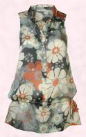 NEXT DIRECTORY - Womenswear Spring/Summer 2008 - Large floral blossom print drop waist top costing �32/�48.