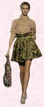 D&G -  Dolce and Gabbana brocade skirt.